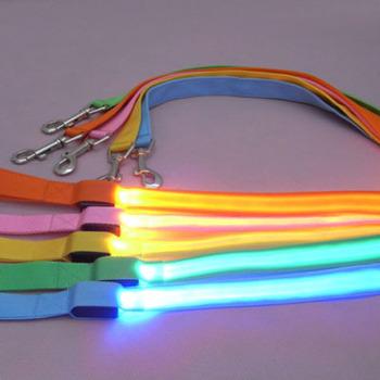 Nylon LED Flashing Pet Leash Rope Belt Harness Safety Lead w/ Safety LED Collar SL00164