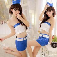 free  shipping Sexy sailor suit bra split set stewardess clothing miniskirt 1013