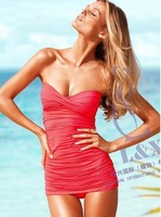 2013 new fashion sexy red one piece swimsuits for women, free shipping