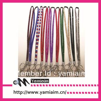 Rhinestone LANYARD keychain ID Holder necklace BLING Free shipping