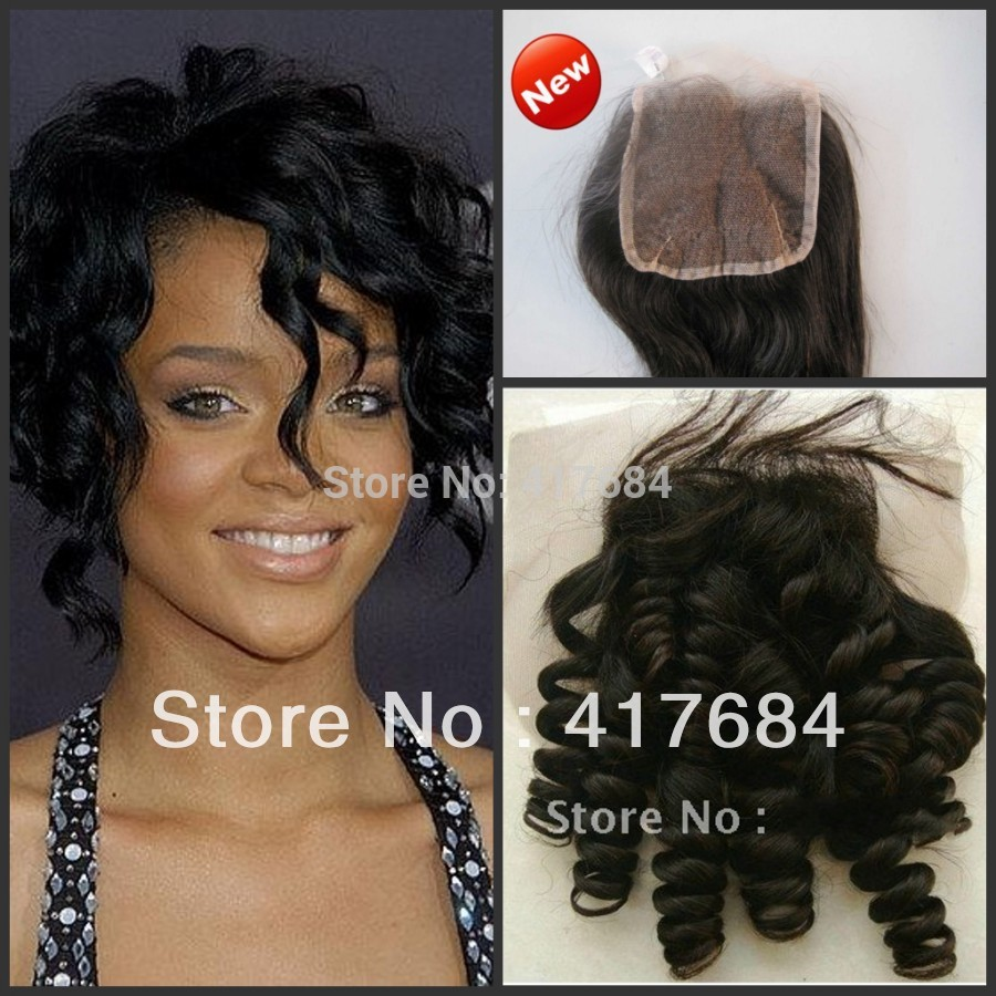 molado curl lace closure size 4inchx4inch natural black no dye bleach baby hair in front pure human hair(China (Mainland))