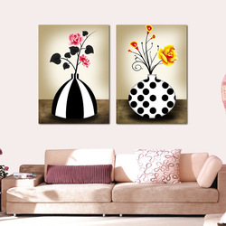 Fashion decorative painting rose bottle picture frame paintings mural(China (Mainland))