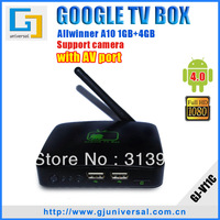 Freeshipping Android 4 0 TV Box with remote Boxchip A10 1GB 4GB smart tv box android wifi Super stable performance Little Gift