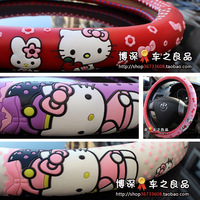 Hellokittyl transparent rubber kitty cat jushi kitty cat steering wheel cover free ship