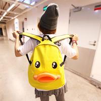 Backpack female 2013 women's handbag cartoon little duck canvas backpack travel bag student school bag