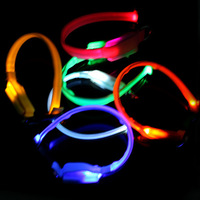 NEW Safety Pet Dog Small-Scale 18-28cm LED Nylon Collar Light-up Flashing Glow SL00251 drop shipping