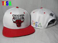 White hat adjustable baseball cap snapback tisa red and white classic hiphop hip-hop cap