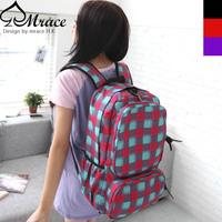 Vintage trend plaid check backpack travel bag casual bag man bag school bag