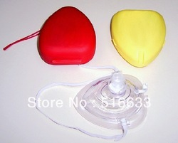 (5pcs/lot) free shipping 2012 mouth to mouth mask/CPR face shield/CPR shield mask/first aid mask(China (Mainland))