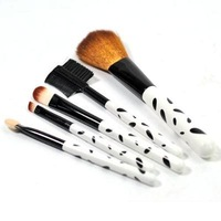 Slap-Up ! 5pcs Cosmetic Facial Make up Brush Kit Makeup Brushes Tools Set ,Free Shipping,