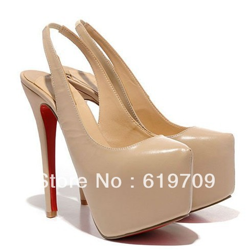 woman red sole slingbacks high heels(China (Mainland))