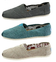 Free shipping Fine linen canvas shoes comfortable casual shoes Women's shoes   green. Apricot. Gray.