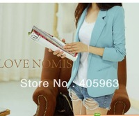 Free shipping 2013 spring  Lady's Long Sleeve Suits small Jacket outwear dropship