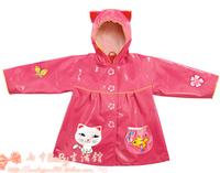 Fashion and stylish child raincoat poncho for girls free shipping