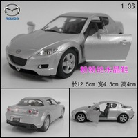 Soft world MAZDA rx-8 artificial alloy car model toy car metal WARRIOR silver