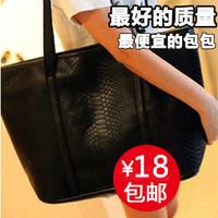 2013 women's handbag fashion vintage bags big bag crocodile pattern fashion women's handbag shoulder bag