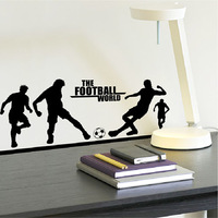 Football desk ofhead morphological wall stickers wallpaper