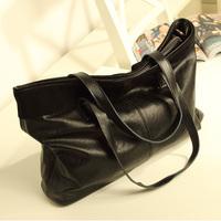 2013 women's handbag fashion vintage big bag black fashion women's handbag shoulder bag female bags
