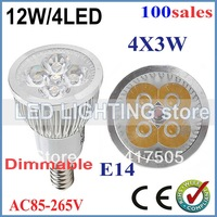 90% energy savings 100x Dimmable GU10 E27 E14 12W High power LED Bulb Spotlight Downlight Lamp LED Lighting Good Quality