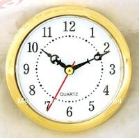 Whose sale wall clock insert clock part clock head watch movement clock movement 100mm gold bezel Arabic number 5pcs/lot