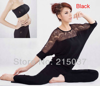 Free shipping - Yoga Suit Lycra fabric to build good body shape, Exercise wear for ladies outdoor activity
