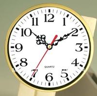 Whose sale wall clock  plastic insert clock part clock head watch movement carft clock 160mm Aravuc number Gold bezel 5pcs/lot