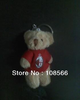 acmilan  bear key holder  / fashion  8cm red bear keychain car