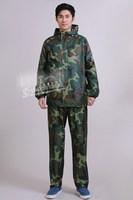Burberry Camouflage split raincoat jungle rain coat and pants set + FREE shipping