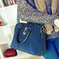 Fashion bag 2013 women's nubuck leather hand work  shoulder  messenger  fashion hand female free shipping