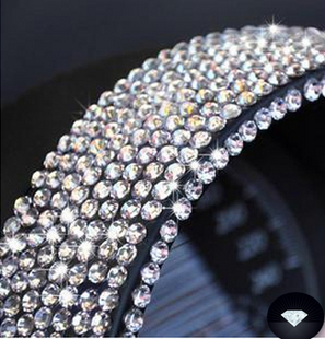 Free shipping Car decoration rhinestone stickers car accessories car stickers diamond paste diy 1000(China (Mainland))