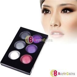 6 Colors EyeShadow Cosmetics Combo Silky Powder Eye Shadow Brush Makeup #4 [30740|01|01](China (Mainland))