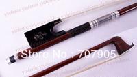 1 pcs Pernambuco Skin Violin Bow Carbon Fiber Stick core Ebony frog