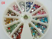 Big Discount!1pcs/set  Nail Art Rhinestones Glitter Tip Gems WheelFree Shipping Free Shipping!#4
