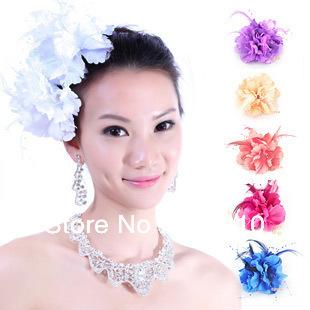 HOT Bohemian Headdress flower fashion bride feather headress flower wedding hari accessories(China (Mainland))