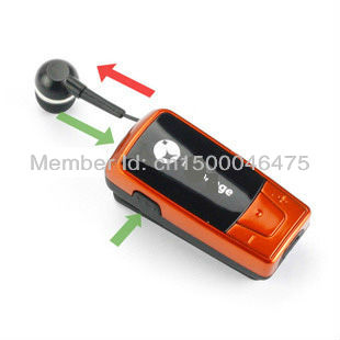 .Wholesale - Embrace Retractable Bluetooth Headset wth Buzzer for iphone/ipad/tablet pc