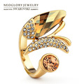 Free Shipping Neoglory MADE WITH SWAROVSKI ELEMENTS Crystal Adjustable Ring Auden Rhinestone Lover Gifts Wholesale Fashion