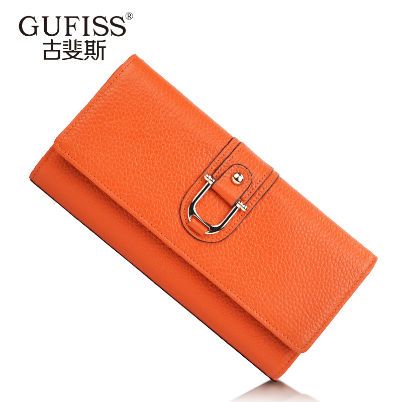 Women's wallet female long design genuine leather folder fashion 2013 women's small change folder best selling hit hot product(China (Mainland))