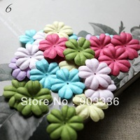 2.7cm  paper flowers, scrapbook decoration,5 color, 60pcs/ lot, 12 PCS per color,scrapbooking paper flowers,free shipping