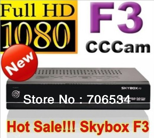 SKYBOX F3 USB personal video recorder digital satellite receiver HD television support Portuguese, Russian MS/DHL free shipping(China (Mainland))