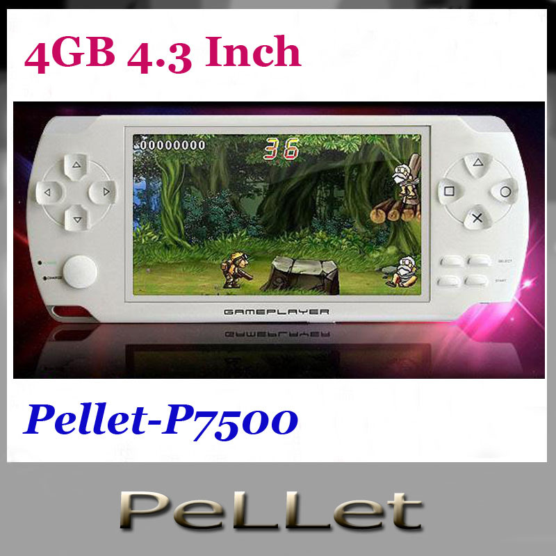 New 4GB 4.3 Inch Large Screen MP5 video Game Player+MP4 Player+MP3 Player game console 10pcs(China (Mainland))