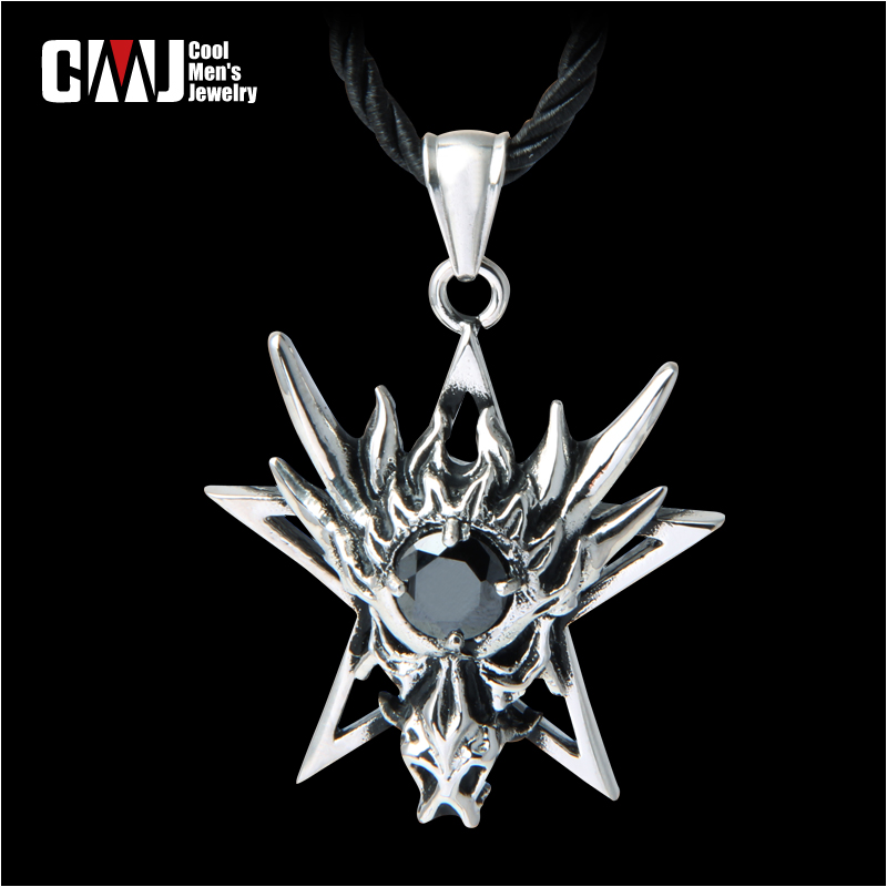 Cmj cool titanium personality five-pointed star necklace punk fashion pendant vintage accessories male