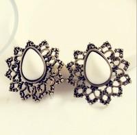 vintage jewelry fashion accessories earrings vintage cutout decorative pattern drop beads stud earring earrings free shipping