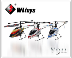 Newest WL Toys V911 2.4G 4CH Single Blade Gyro RC MINI Outdoor Helicopter With LCD and 2 Batteries ----Ship with Color box(China (Mainland))