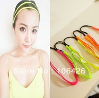 [Free shipping]NANA BEST Fluorescent candy colored multicolor braids hair with hair bands headband
