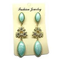 Earrings2013 Fashion Elegant  Many Colors With Flower Resin  Earring Ear Drop Earrings Free ShippingOY130312(E226)