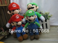 "13.5"" New Super Mario plush toys Mario bros Mario & Luigi Soft plush doll Brothers EMS Free Shipping"