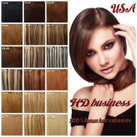 "7PCS Clip in Full Head 100% Remy human hair Extentions15""/18""/20""/22""  Color 12#   70Gram wholesale discount/Free Shipping"