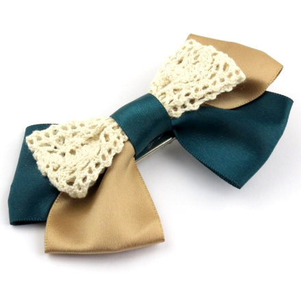 YBB T070 manufacturers mixed batch of two-color bow hair accessories hairpin spring clip duckbill clip(China (Mainland))
