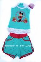 girl cute cartoon summer suit beach clothing set