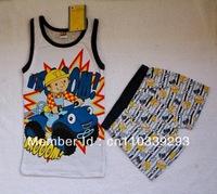 boy cute cartoon summer suit